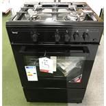 Ex Display Teknix TKGF60BL 60Cm Single Cavity Gas Cooker - Black - RRP£289.99
