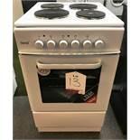 Ex Display Teknix TK50SEW 50cm Single Cavity Electric Cooker - White - RRP£179