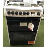 Ex Display Hotpoint DCN60P 60 cm Electric Ceramic Cooker - White - RRP£399.99