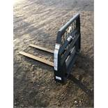 "Woods 48"" pallet forks, skid loader type attachment"