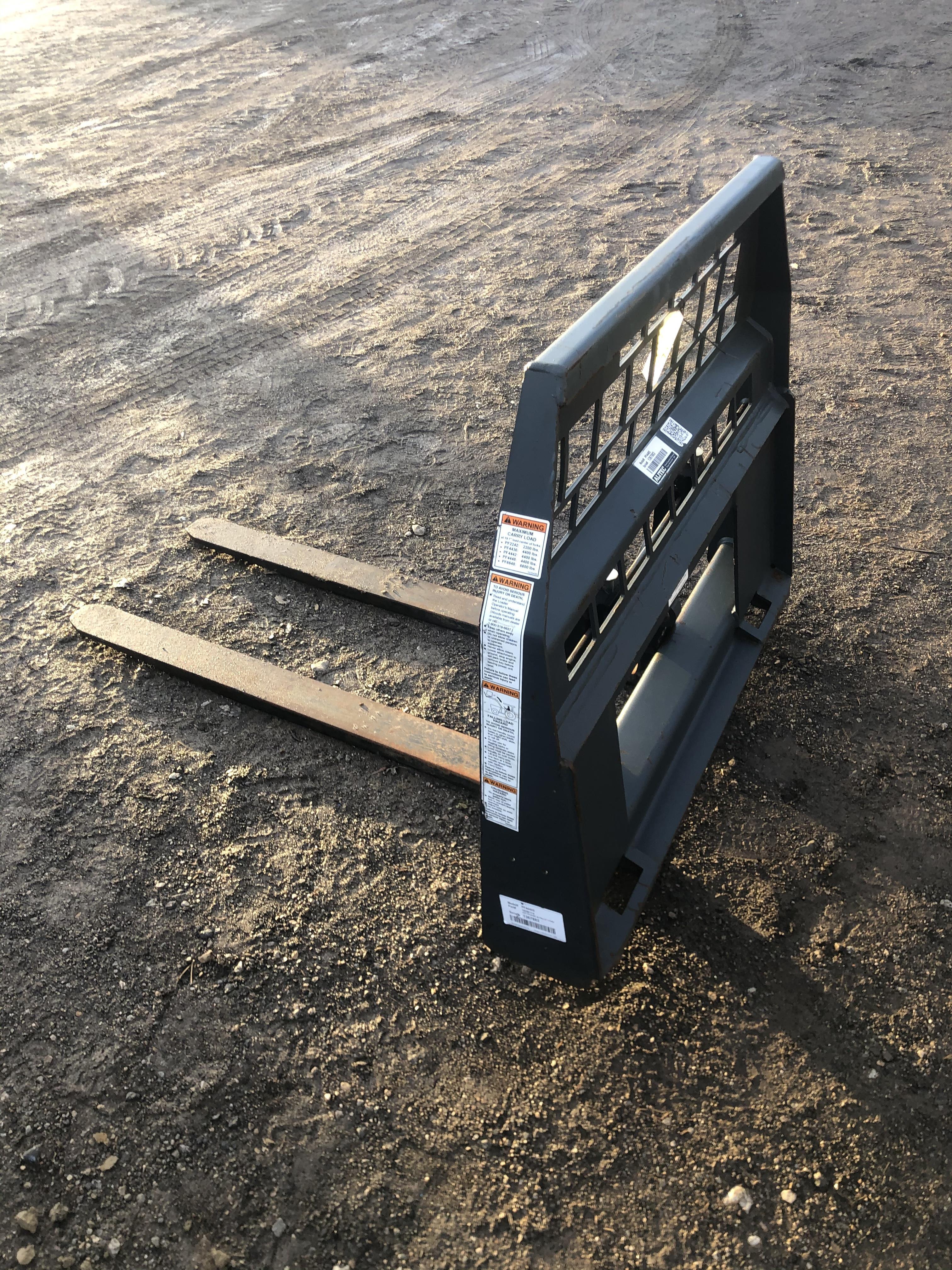 """Woods 48"""" pallet forks, skid loader type attachment"""