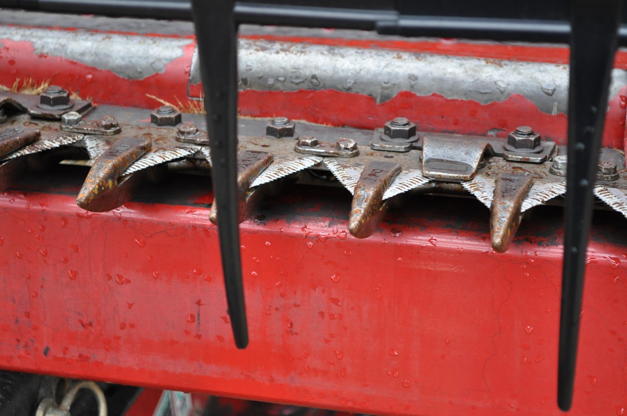 "30' Case IH 1020 grain head, row crop divider, hyd for/aft, 3"" knife, SN CBJ043681, spare floor, - Image 7 of 8"