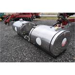 (2) 250 gal SS saddle tanks on cradle