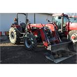 Case IH 85U Farmall MFWD tractor, 18.4R30 rear, 12.4R24 front, open station, mechanical shuttle