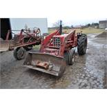 International 674 tractor, 16.9-30 rear, 7.50-16 front, diesel, single hyd, 3pt, 540 PTO, sells with