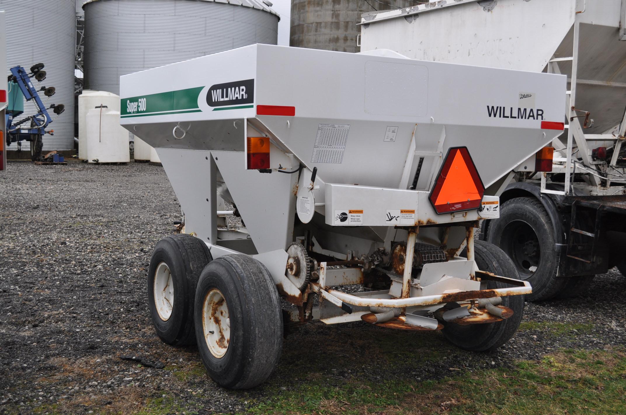 Wilmar Super 500 dry fertilizer spreaders, tandem axles, 12.5L-15 tires, twin spreaders, 540 pto - Image 2 of 12