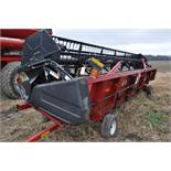 "30' Case IH 1020 grain head, row crop divider, hyd for/aft, 3"" knife, SN CBJ043681, spare floor,"