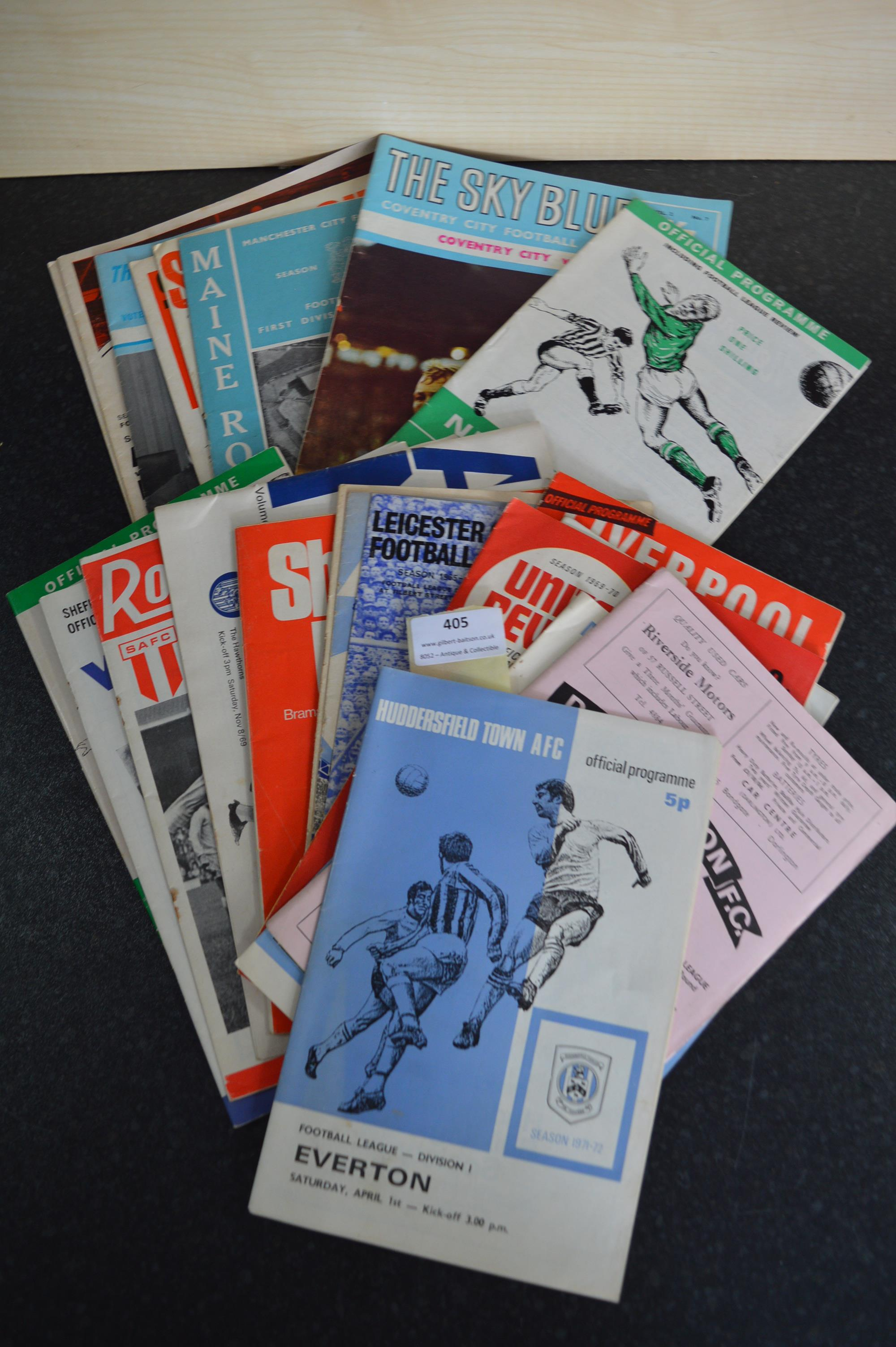 Lot 405 - Collection of Assorted Vintage Football Programmes