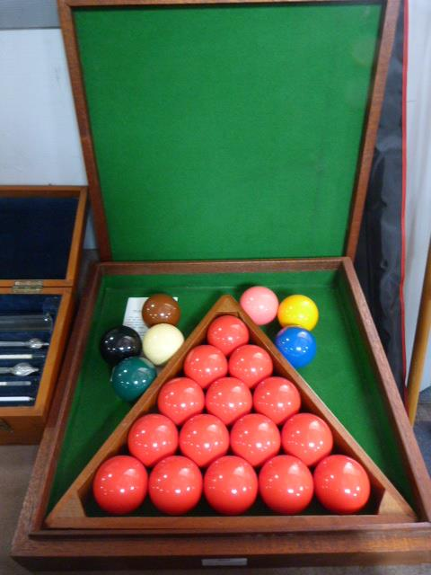 Lot 257 - Boxed Snooker Ball Set and Triangle