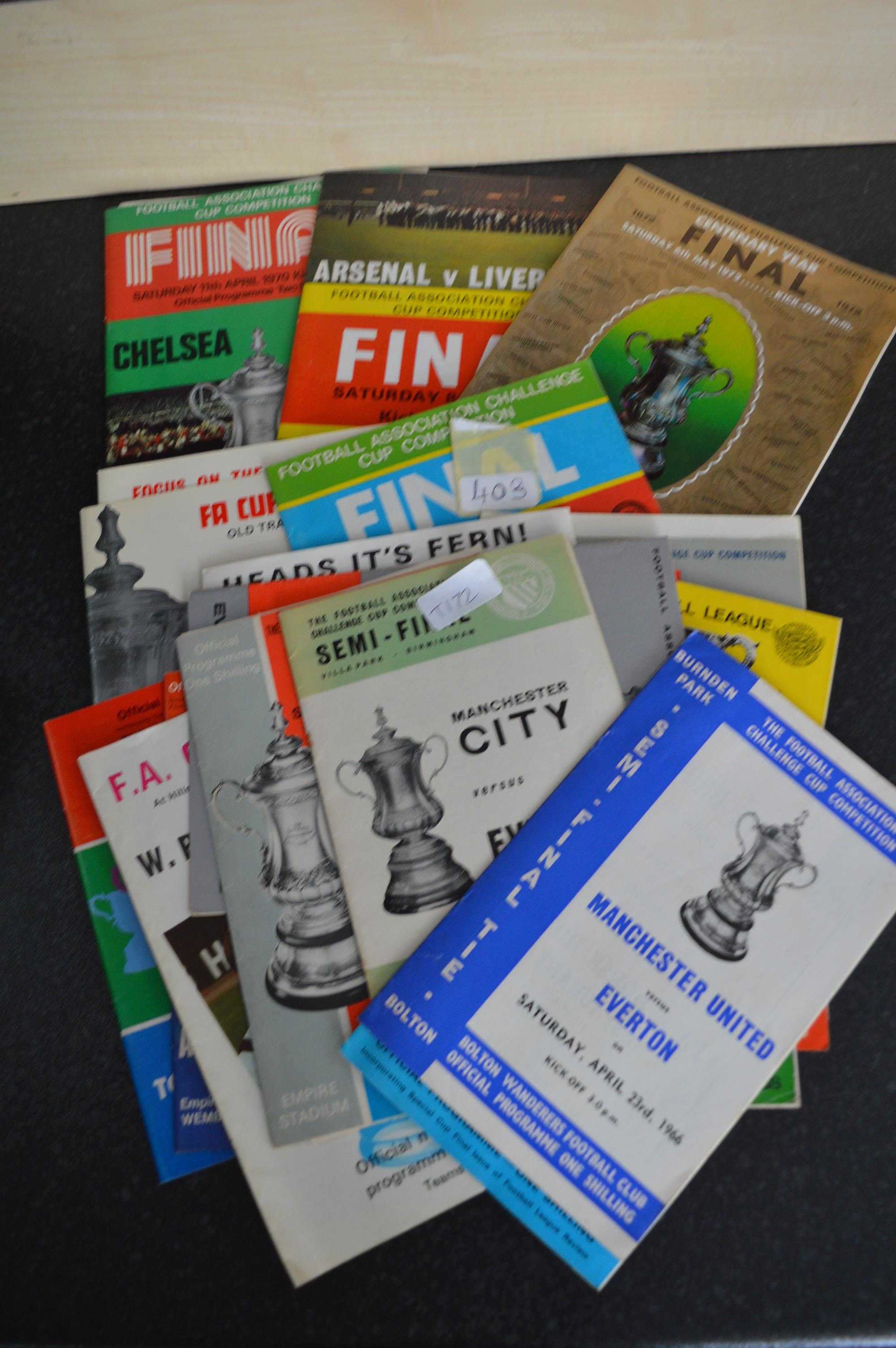 Lot 403 - Collection of Assorted Football Programmes