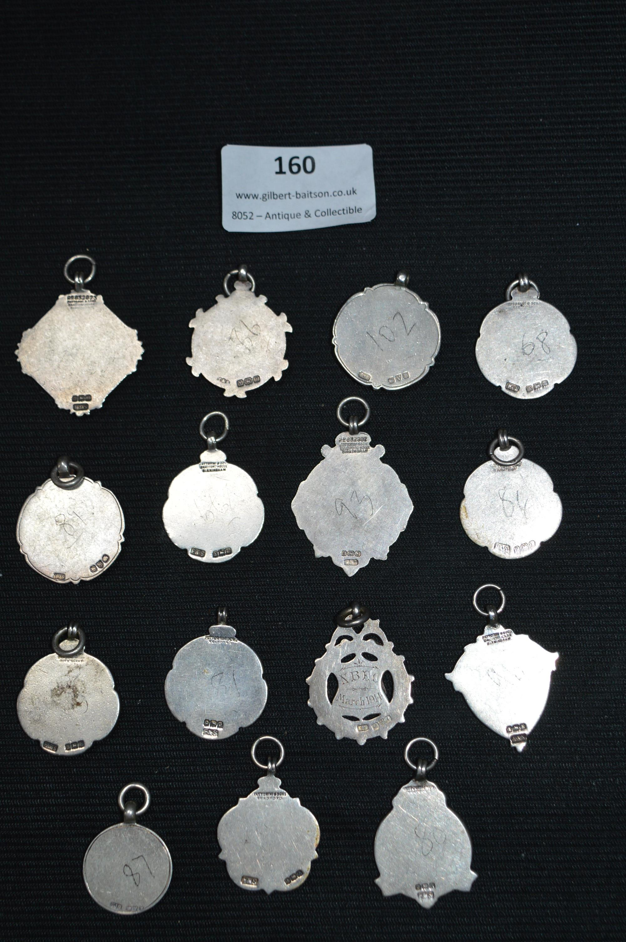 Lot 160 - Fifteen Vintage Silver Hull Rugby Medals
