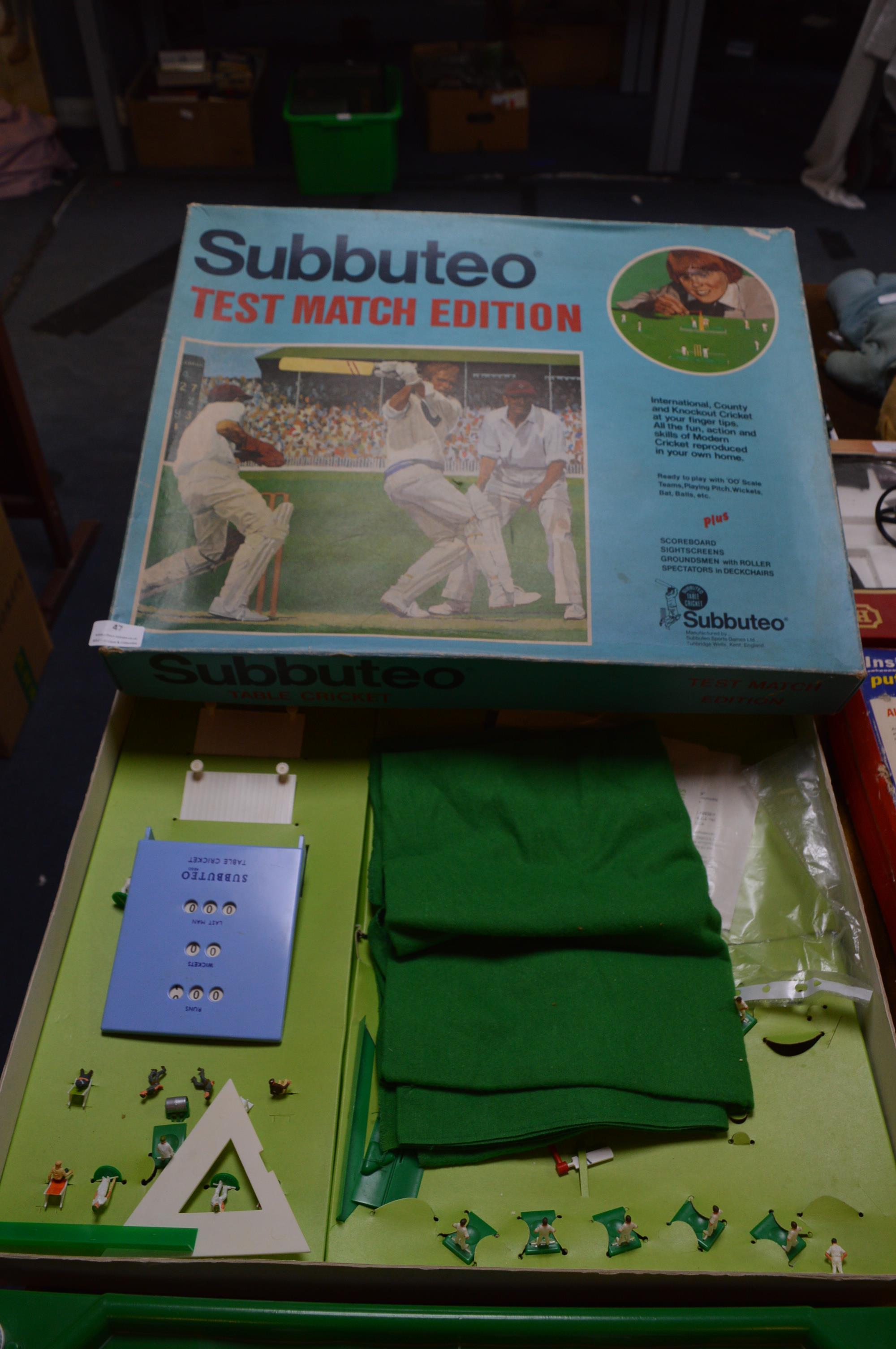 """Lot 47 - Boxed Subbuteo Cricket Game """"Test Match Edition"""""""