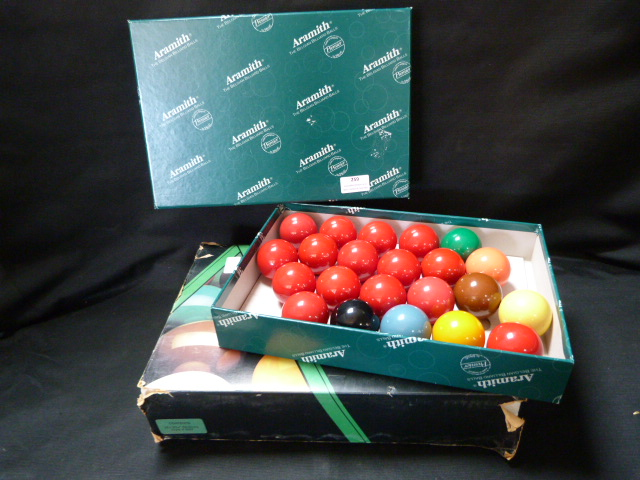 Lot 259 - Two Sets of Snooker Balls