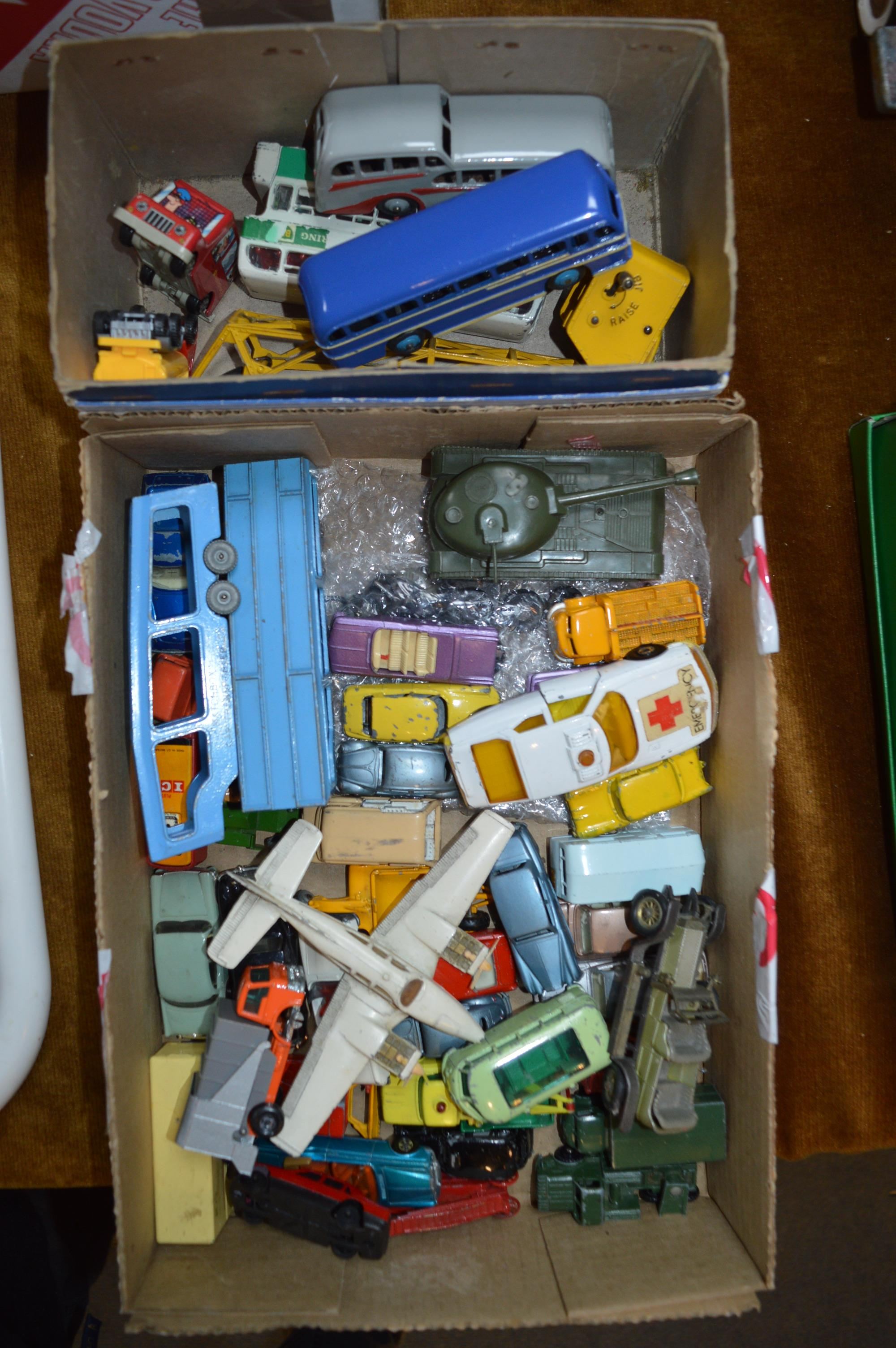 Lot 58 - Collection of Matchbox Diecast Vehicles and a Small Box of Dinky Toys