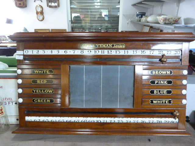 Lot 255 - Snooker Scoreboard by Cox & Yeman of London
