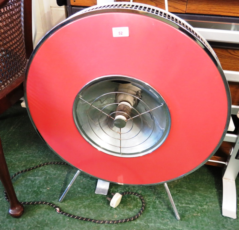 Lot 52 - VINTAGE DISC SHAPED ELECTRIC ROOM HEATER (SOLD AS ANTIQUE ITEM ONLY)