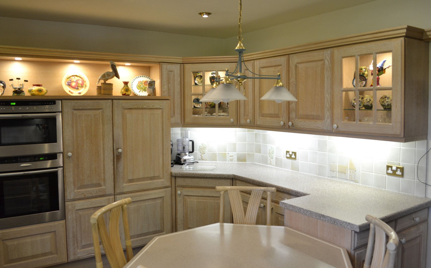 1 x siematic bespoke solid wood limed oak fitted kitchen for Oak fitted kitchen