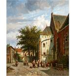 Adrianus EversenVor der Westerkerk in Enkhuizen