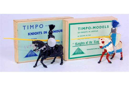 Timpo Ivanhoe and Knights of the Round Table Mounted Knight Group, 2