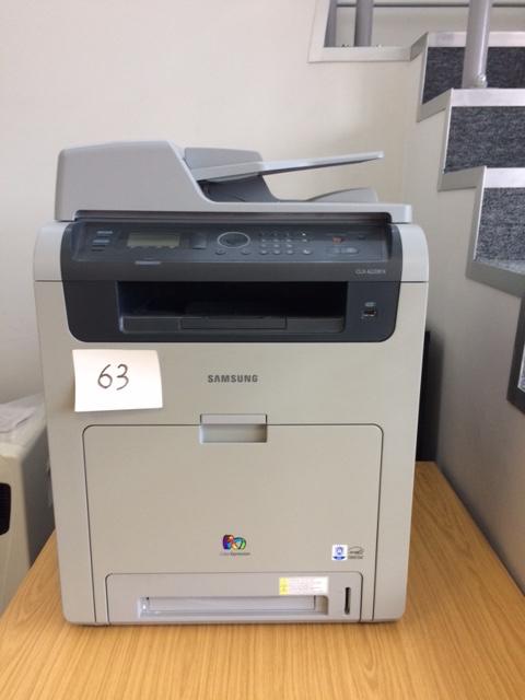 Lot 63 - Samsung colour printer CLX-6220FX. Lift Out £10