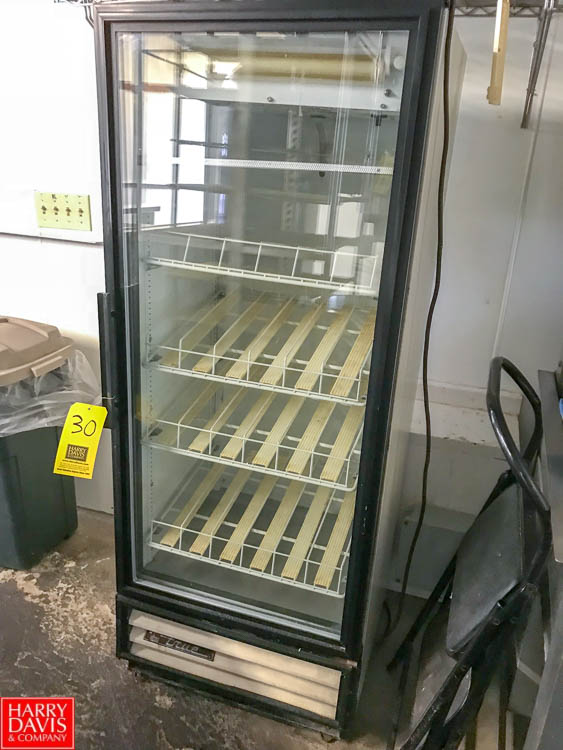 Lot 30 - True Single-Door Reach-In Glass Refrigerator, Contact Auctioneer for Rigging Rigging fee: 50