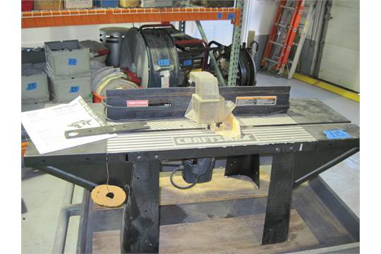 craftsman professional router table and router. 2hp with &#189 ...