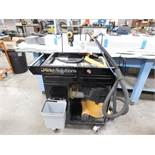 "LOT - MIRKA (SANDING) SOLUTION TROLLEY W/ PNEUMATIC BOX (PUMP), DUST EXTRACTOR 912, 3"" X 8"""