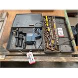 "LOT - BOSCH 11244E 1-1/2"" SPLINE ROTARY HAMMER, W/ METAL CASE, PLUS LARGE CASE OF LARGE AUGER AND"