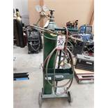 RADNOR OXY-ACETYLENE TORCH CART W/ CUTTING TORCH AND REGULATORS, TANKS NOT INCLUDED