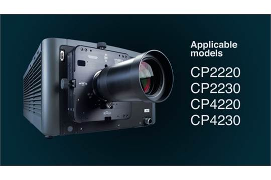 Christie CP2230 Digital Projector with PGBFL 116 5mm DPL Cinema Lens