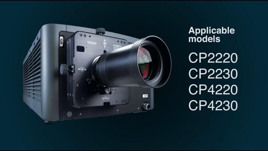 Lot 1 - Christie CP2230 Digital Projector with PGBFL 116.5mm DPL Cinema Lens, Doremi Cinema Showvault
