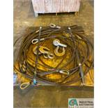 "(LOT) (5) 3/4"" X 20' LIFTING CABLES"