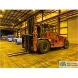 52,000 LB TAYLOR MODEL TY-520M DIESEL POWER PNEUMATIC LIFT TRUCK; S/N SG017262, 4,348 HOURS SHOWING,