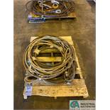 "(LOT) (3) 1/2"" X 20' & (4) 3/4"" X 20' LIFTING CABLES"
