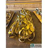 "(LOT) (40) 10' X 3"" LIFTING SLINGS"