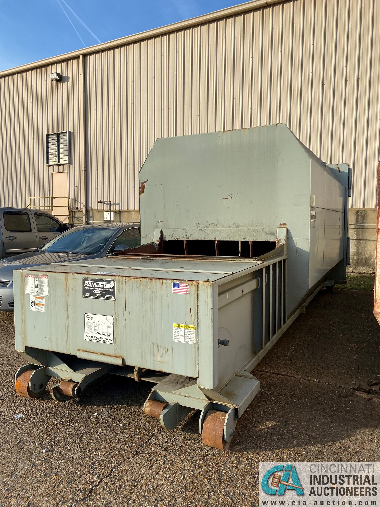 30 YD MARATHON MODEL RJ100-SC-30YD SELF-CONTAINED COMPACTOR/ CONTAINER; S/N 2228709 (2009) 45,200 LB - Image 2 of 7