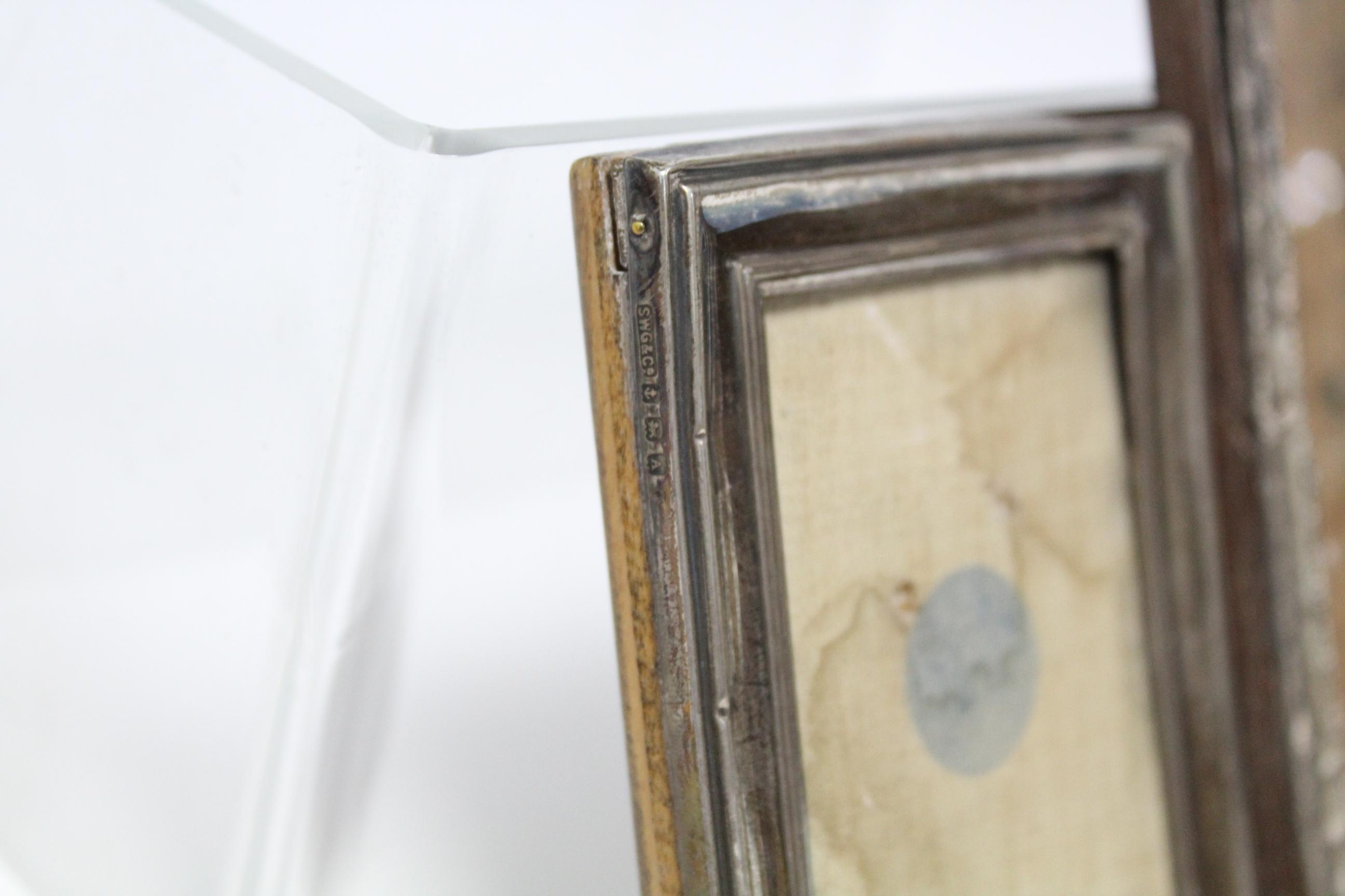 Five various rectangular photograph frames; & a small circular photograph frame, w.a.f. - Image 5 of 7