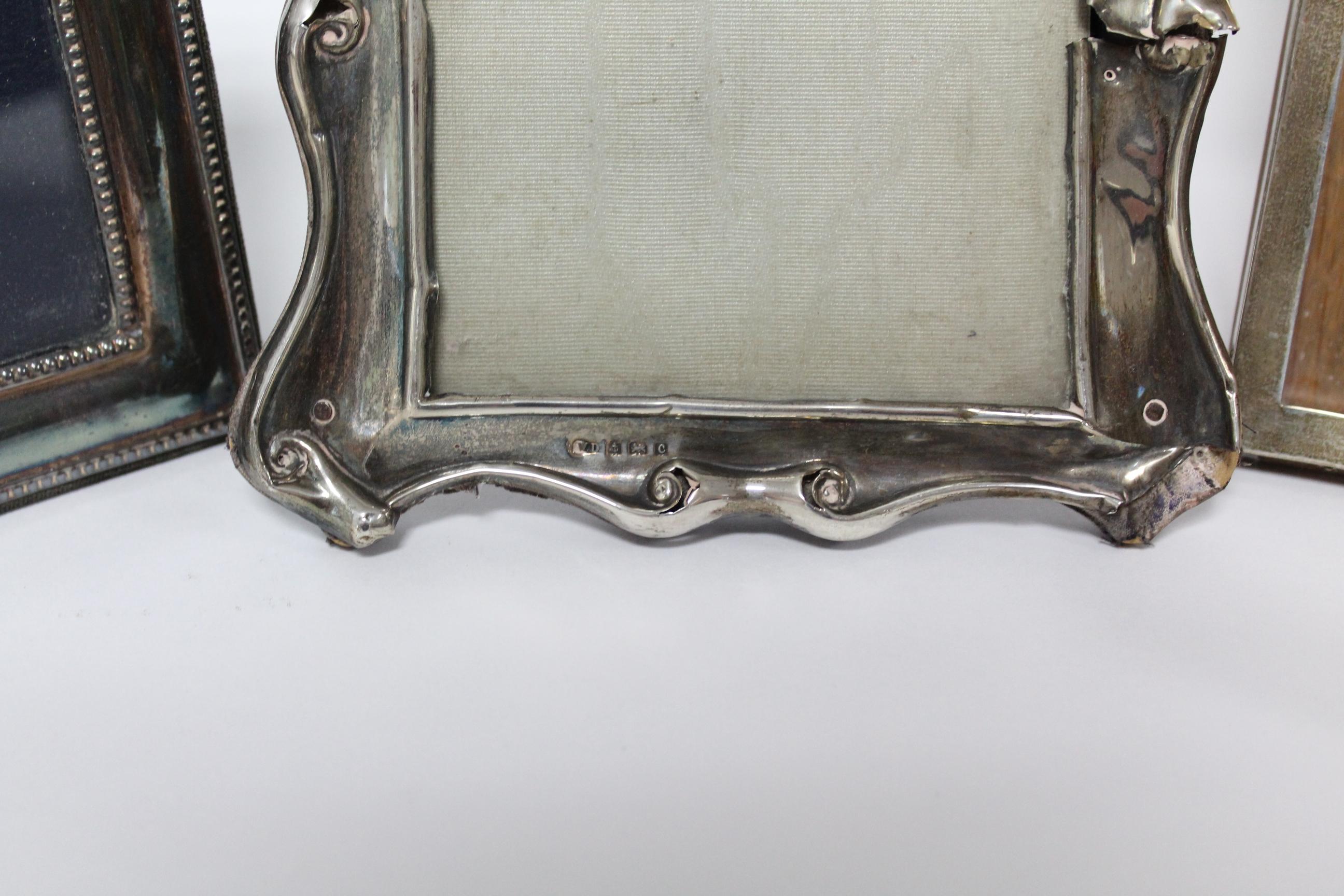 Five various rectangular photograph frames; & a small circular photograph frame, w.a.f. - Image 2 of 7