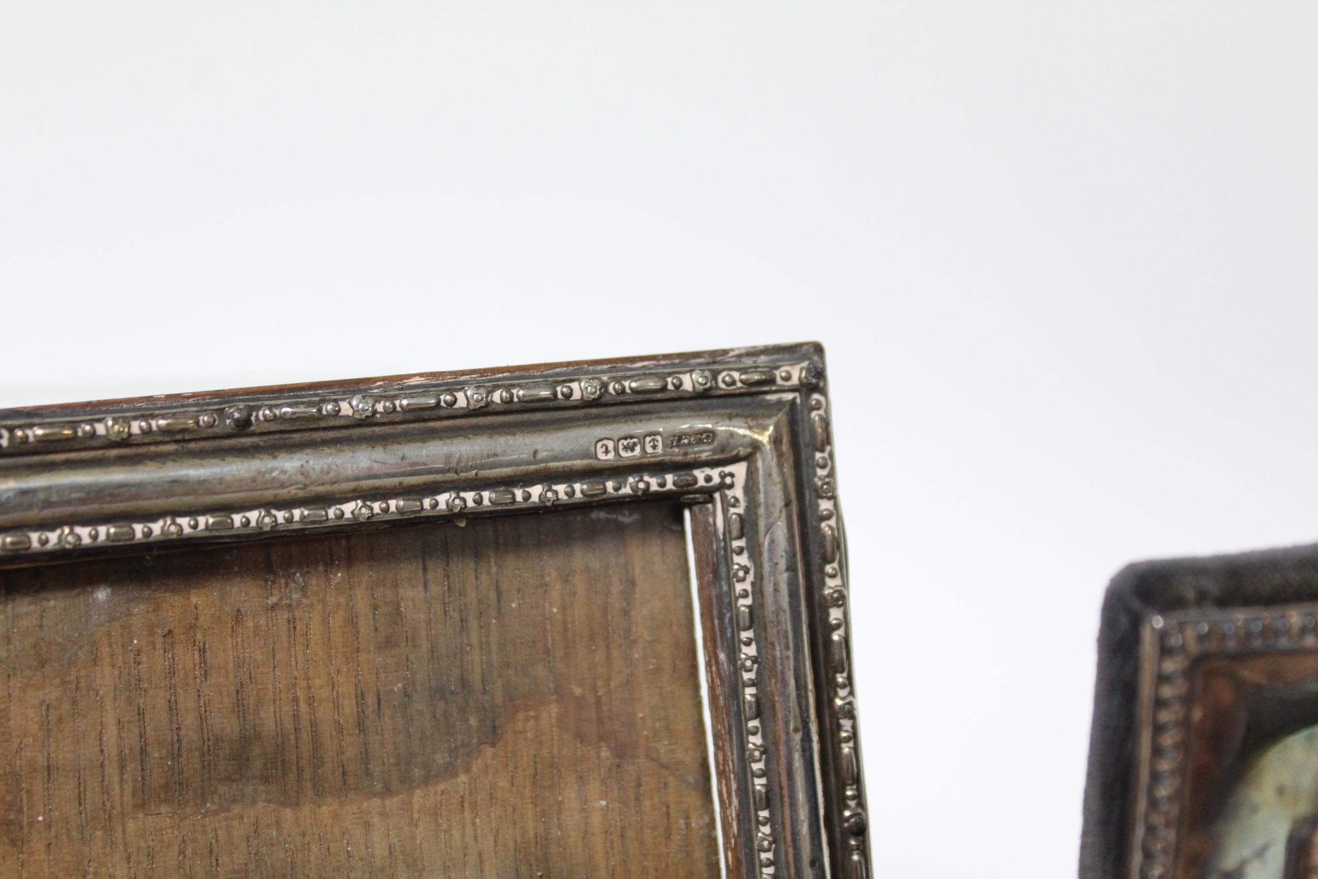 Five various rectangular photograph frames; & a small circular photograph frame, w.a.f. - Image 4 of 7