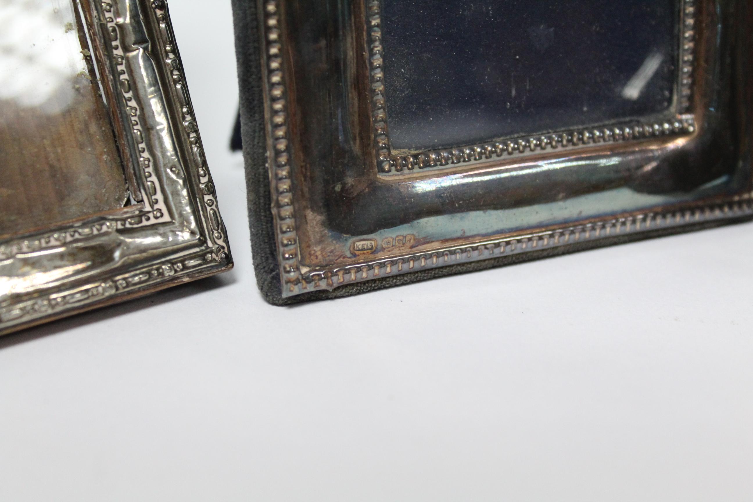 Five various rectangular photograph frames; & a small circular photograph frame, w.a.f. - Image 3 of 7