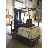 CROWN SITDOWN FORKLIFT. Model #: SC4500. S/N: 9A166057. Hours (as of Oct 15, 2018): Unknown. Year: