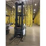 CROWN REACH TRUCK. Model #: RR5700. S/N: 1A433756. Hours (as of Oct 15, 2018): 7490. Year: 2015.