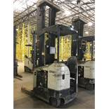 CROWN REACH TRUCK. Model #: RR5700. S/N: 1A388329. Hours (as of Oct 15, 2018): 972. Year: 2012. Mast