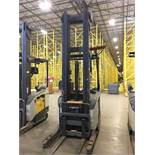 CROWN REACH TRUCK. Model #: RR5700. S/N: 1A460481. Hours (as of Oct 15, 2018): 4329. Year: 2016.