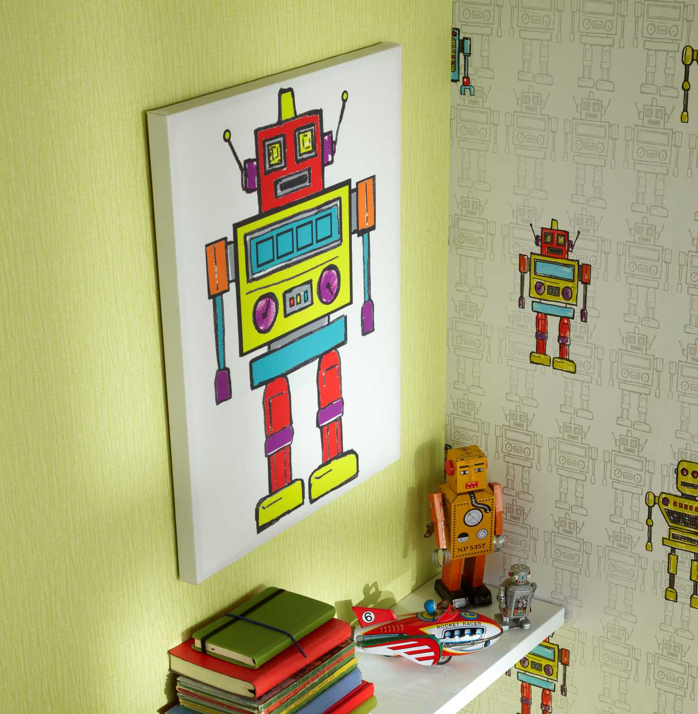 Lot 22 - 56 Arthouse Arthouse Robots LED Canvas