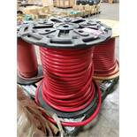 spool of MHP075 red pvc air and water hose, 200psi. New as pictured.