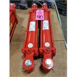 "Qty 2 - Cross 2.5x10 tie rod hydraulic cylinder model 022737. 2.5"" bore, 10"" stroke. New."