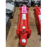 """Cross 4x10 tie rod hydraulic cylinder model 022646. 4"""" bore, 10"""" stroke. New as pictured."""