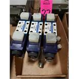 Qty 3 - Western Fluidyne hydraulic valve model WFDG4V3S8CMUG560. New mounted to manifold.
