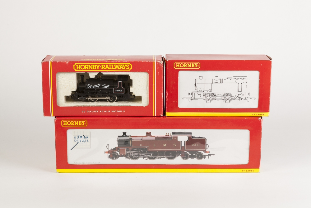 Lot 378 - HORNBY BOSED 00 GAUGE FOWLER CLASS 4P 4-6-2 TANK LOCOMOTIVE No. 2311 in LMS maroon and TWO DITTO 0-